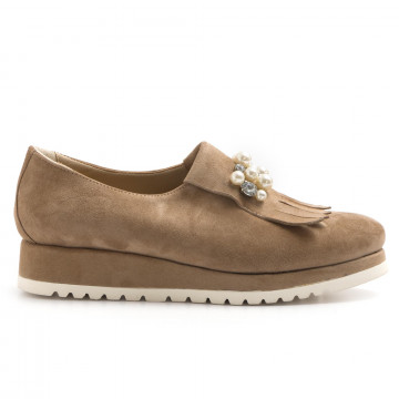 loafers woman calpierre dl140cap rov taupe
