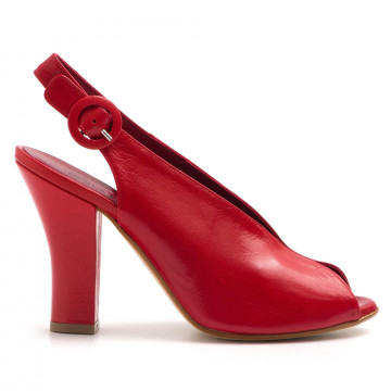 sandali donna greta ingrid 1906capra rosso