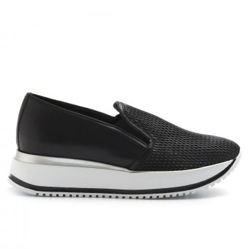 slip on donna sax 21603madras nero 3238