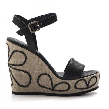 sandali donna dei colli vera120512 nero