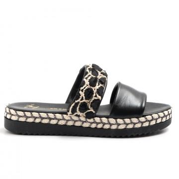 sandals woman le barbottine  1030pelle nero