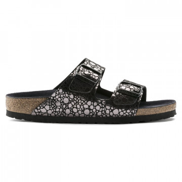 sandali donna birkenstock arizona1008872 metal black 3347