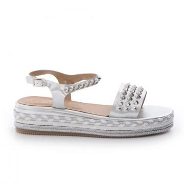 sandali donna fiorina s164 cp400laminato argento