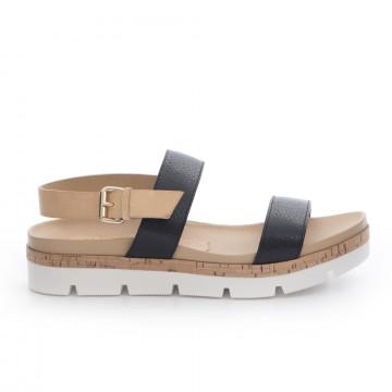 sandals woman sax 22011prince maine nero