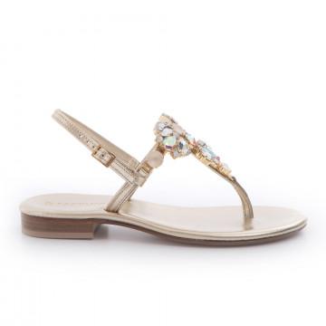 sandali donna positano 4903lam platino 3381