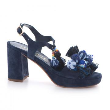 sandals woman les etoiles s150415csilk blu