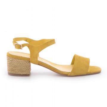 sandals woman les etoiles s172c8415silk giallo