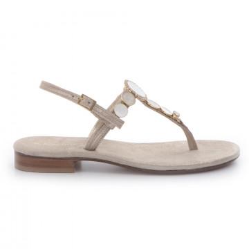 sandals woman positano 4914grains platino