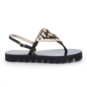 sandals woman positano 4911vit nero
