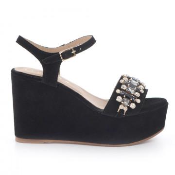 sandali donna fiorina s144382 cam nero