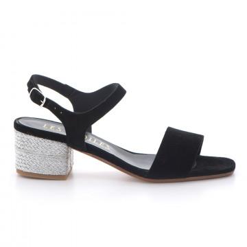 sandals woman les etoiles s172c8415silk nero