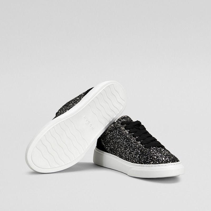 Sneakers Hogna H365 in glitter nero e argento e3ed883764b