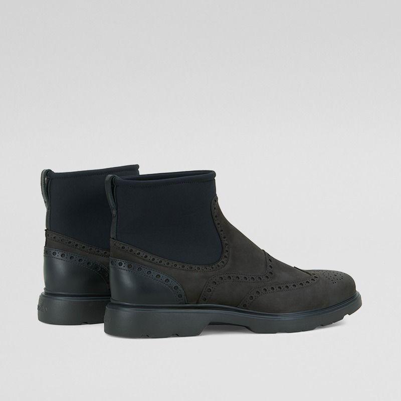 Chelsea Boot Hogan H304 in pelle marrone con calzino 54a6ce9e13f