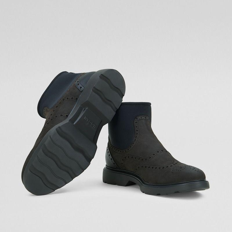 Chelsea Boot Hogan H304 in pelle marrone con calzino