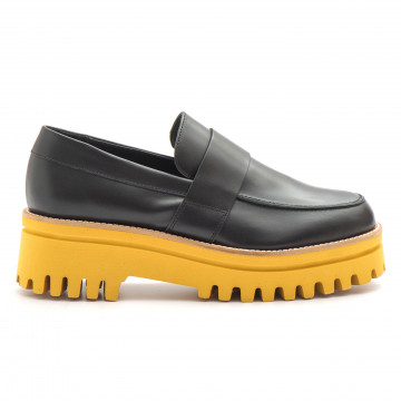 loafers woman paloma barcelo m130tol black giallo