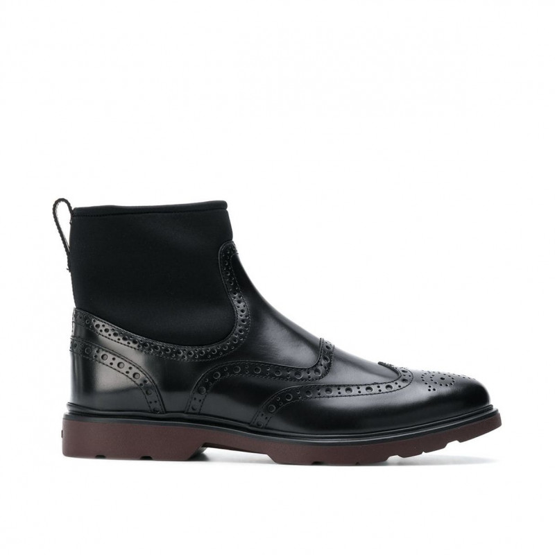 Chelsea Boot Hogan H304 in pelle nera con calzino