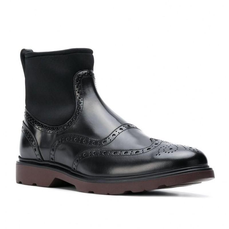 new concept 167ee d2278 Chelsea Boot Hogan H304 in pelle nera con calzino