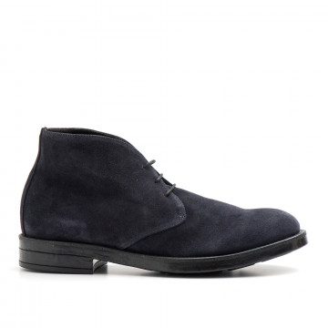 lace up ankle boots man eveet 18621camoscio blu