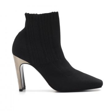 booties woman lella baldi 9087221 sock nero