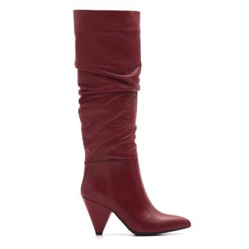 boots woman sangiorgio 6141st 73995piuma rosso