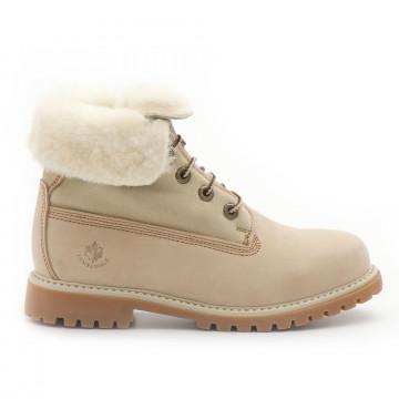 booties woman lumberjack sw00101016 ca003 cream