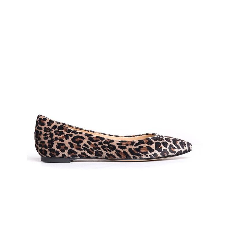 comprare on line 445bf 734f0 Ballerina leopardata con punta affusolata