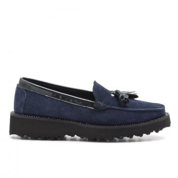 loafers woman vittoria mengoni 881821 velour blu