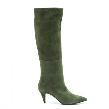 stivali donna lorenzo masiero w195572camoscio verde 3903