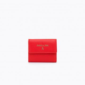 portafogli donna patrizia pepe 2v8545 a4u8r631 deep mars red 4210