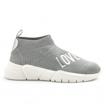 sneakers donna love moschino ja15223g17is0902 argento 4225
