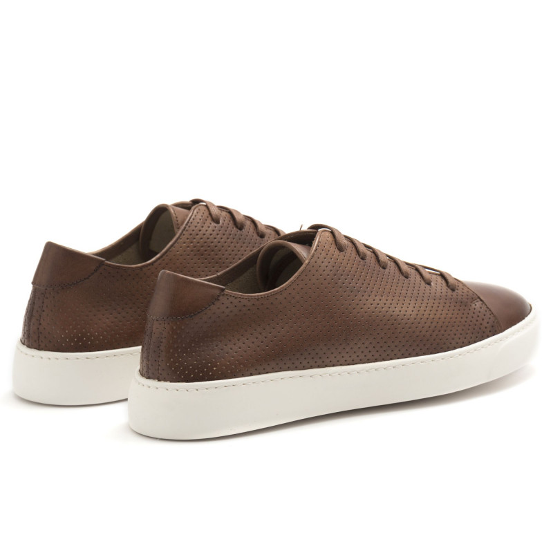 Sneakers J. Wilton marrone in pelle traforata