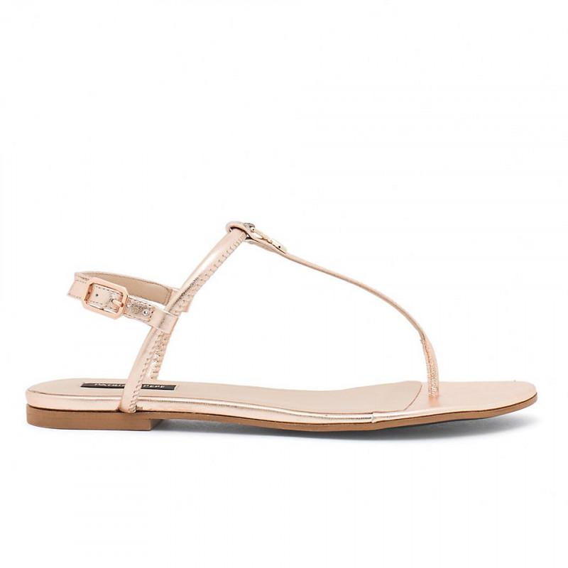 sports shoes 9f004 49651 Sandalo infradito Patrizia Pepe oro rosa in pelle