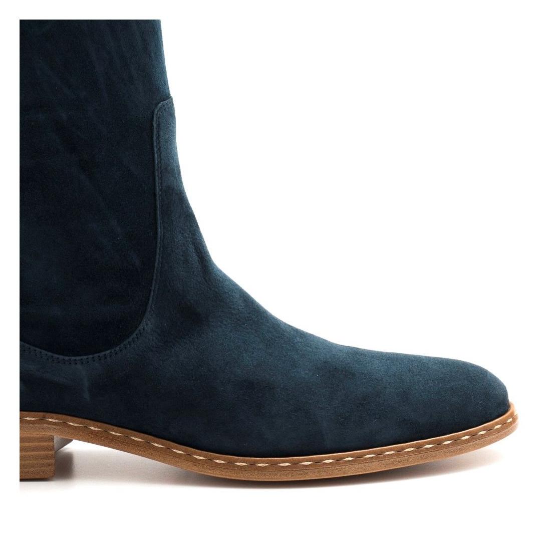 stivali donna lorenzo masiero b4636234 velour blu 4536