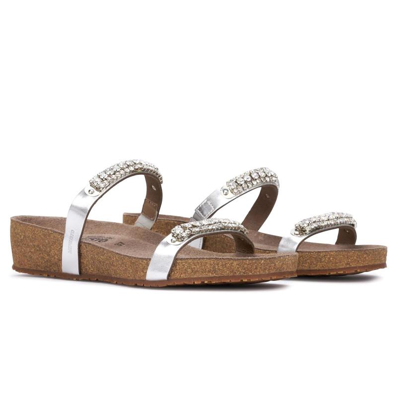 sports shoes e3079 dee12 Ciabatta Mephisto Ivana argento con strass