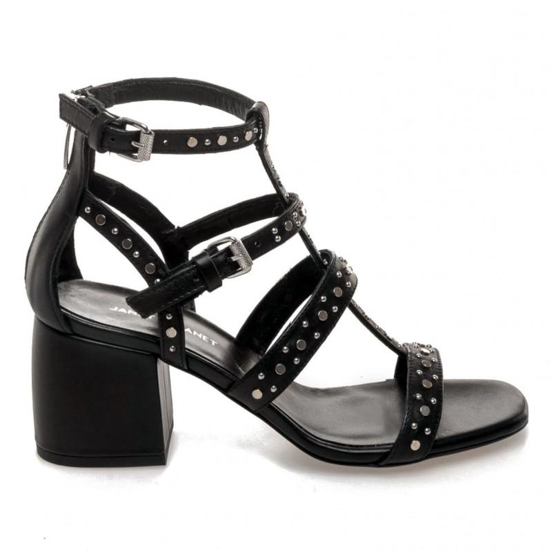 allacciarsi dentro design moderno qualità autentica Sandalo con borchie Janet & Janet Norma nero