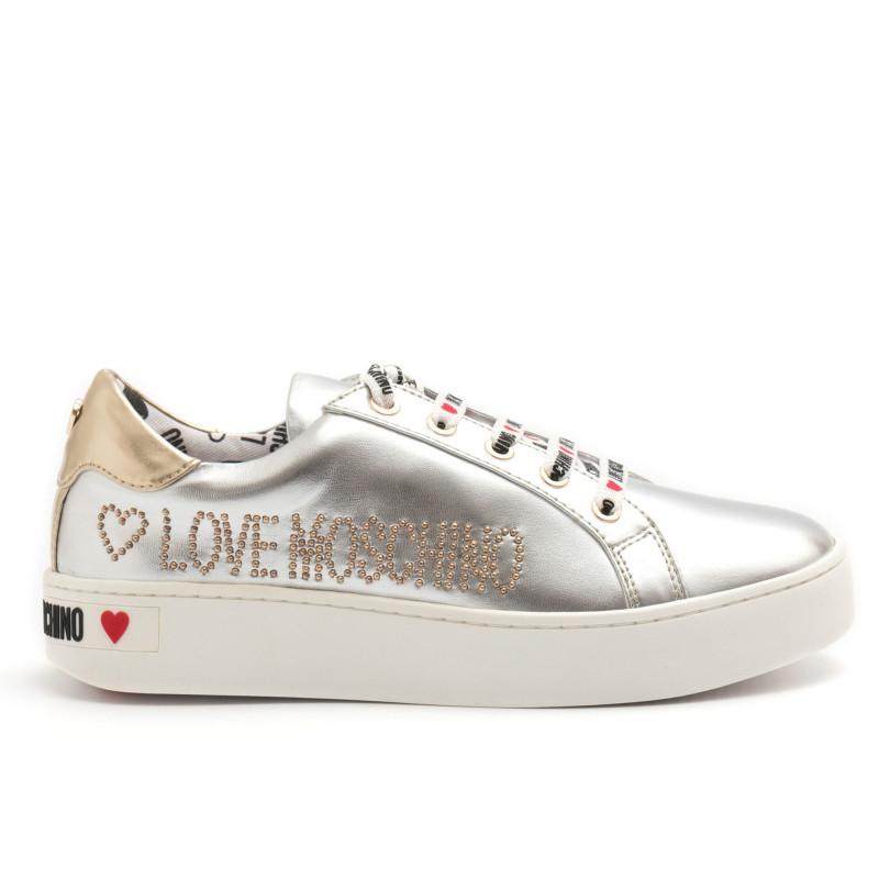 Argento Borchiette Con Sneakers Moschino Love BCdWeQrxo