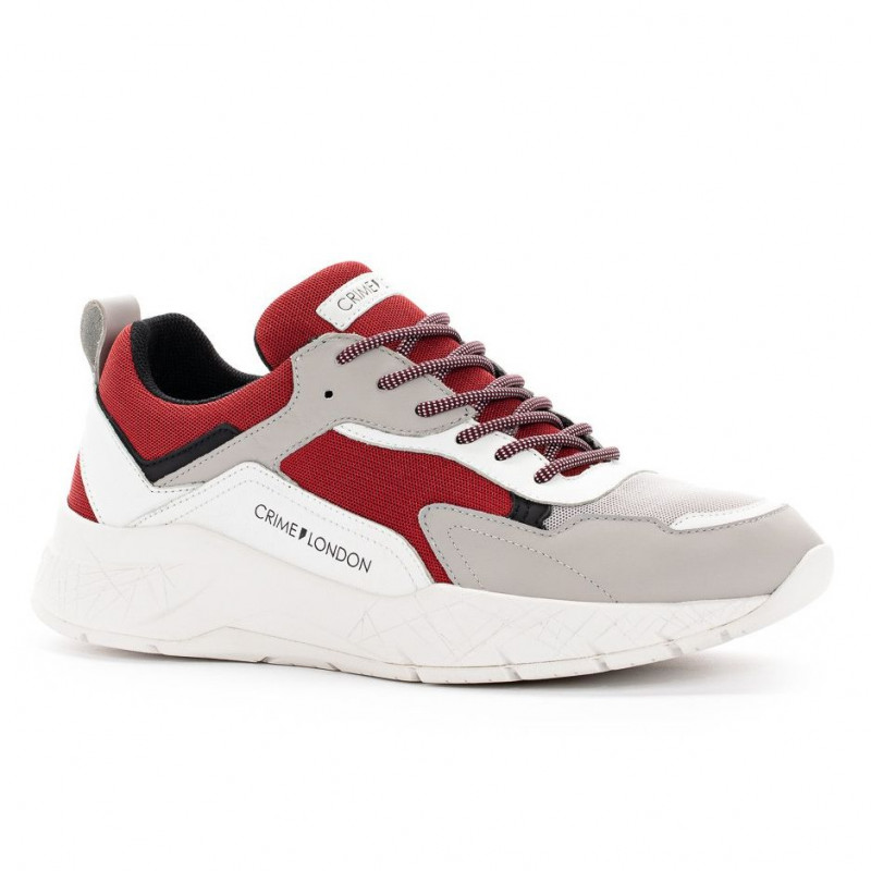 022308597d Sneaker Crime London Komrad bianca e rossa