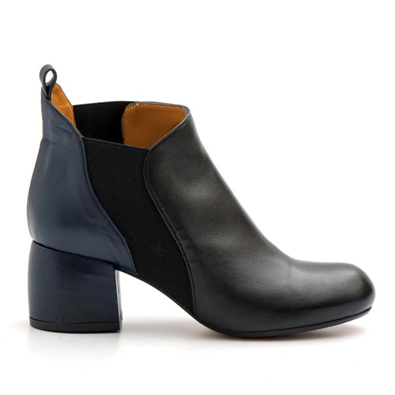 the latest 61471 0b9b6 Tronchtti Audley modello Tadea in pelle nera e blu