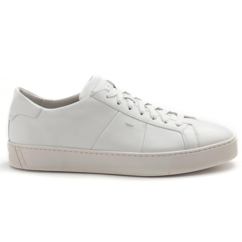 quality design 36f3c ed05a Sneakers Santoni Gloria bianca in morbida pelle