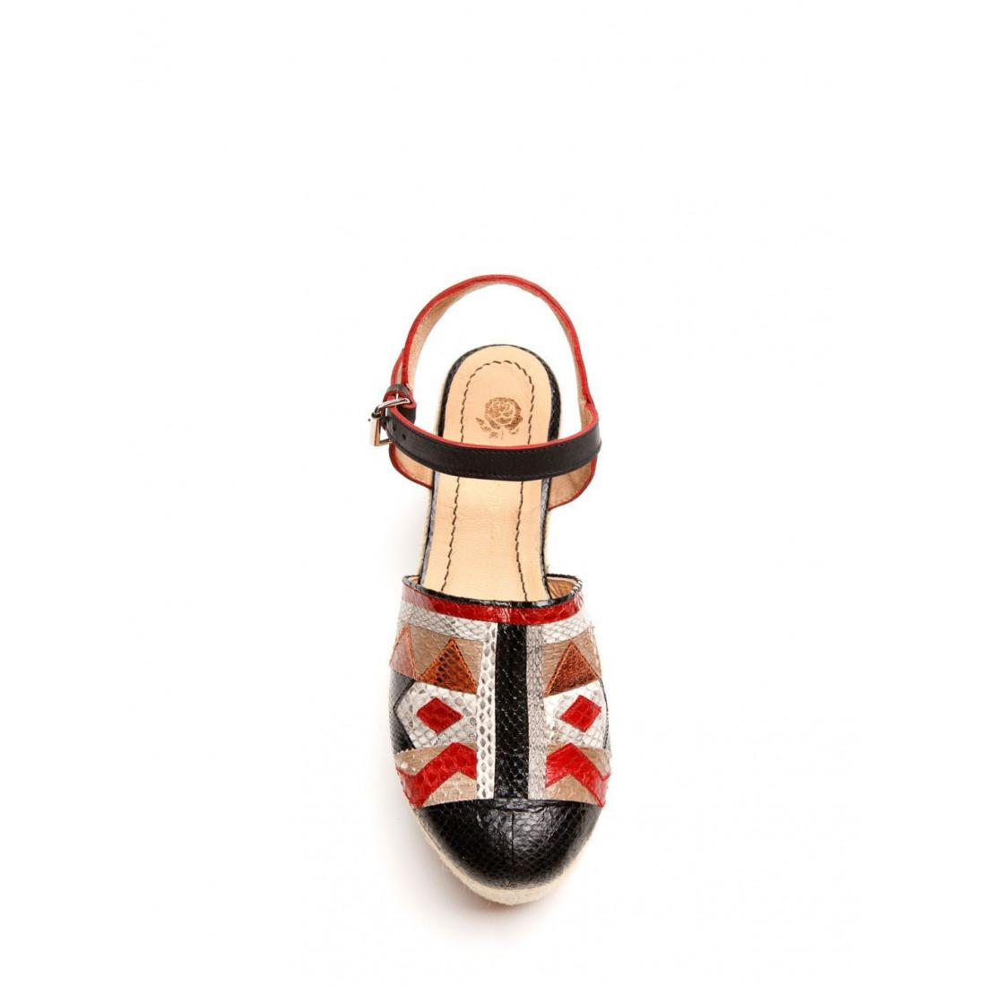 sandali donna maliparmi sz0050 0412212b30 zeppa art patch