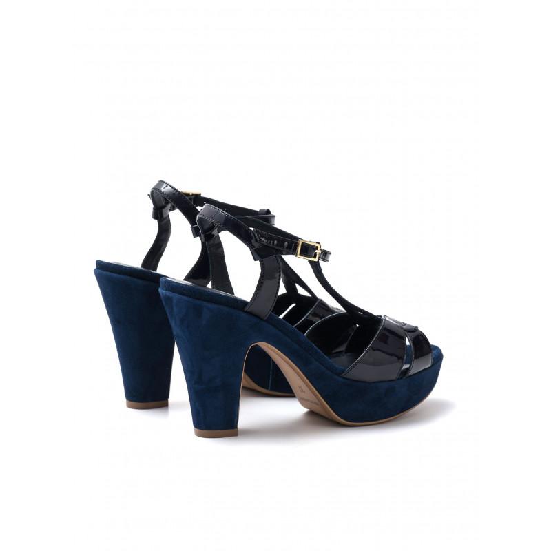 sandali donna silvia rossini 985 3720vernice blu cam navy