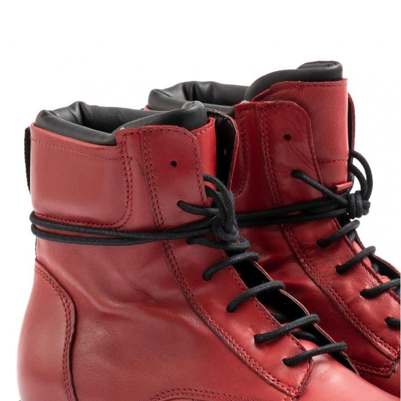 posto migliore alta qualità abbigliamento sportivo ad alte prestazioni Polacchini donna Dei Colli rossi con ganci in metallo