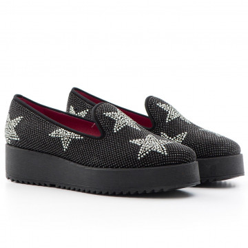 slip on donna 181 manitusuede blkstar blkdiam 1159