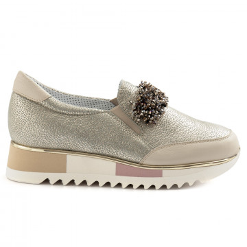 slip on donna alfredo giantin 6722pony beige 6761