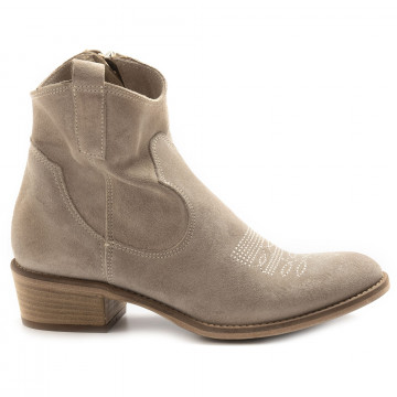 stivaletti donna keb 303rsuede taupe 6861