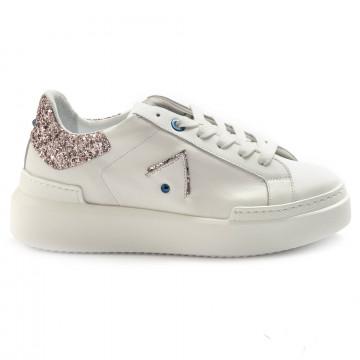 sneakers donna ed parrish ckld sq41bianco glitter 6881