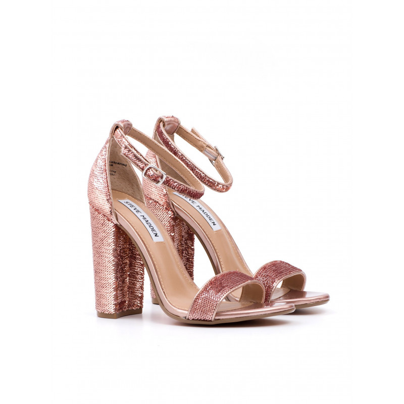 sandals woman steve madden sms carrsons rose gold sequins