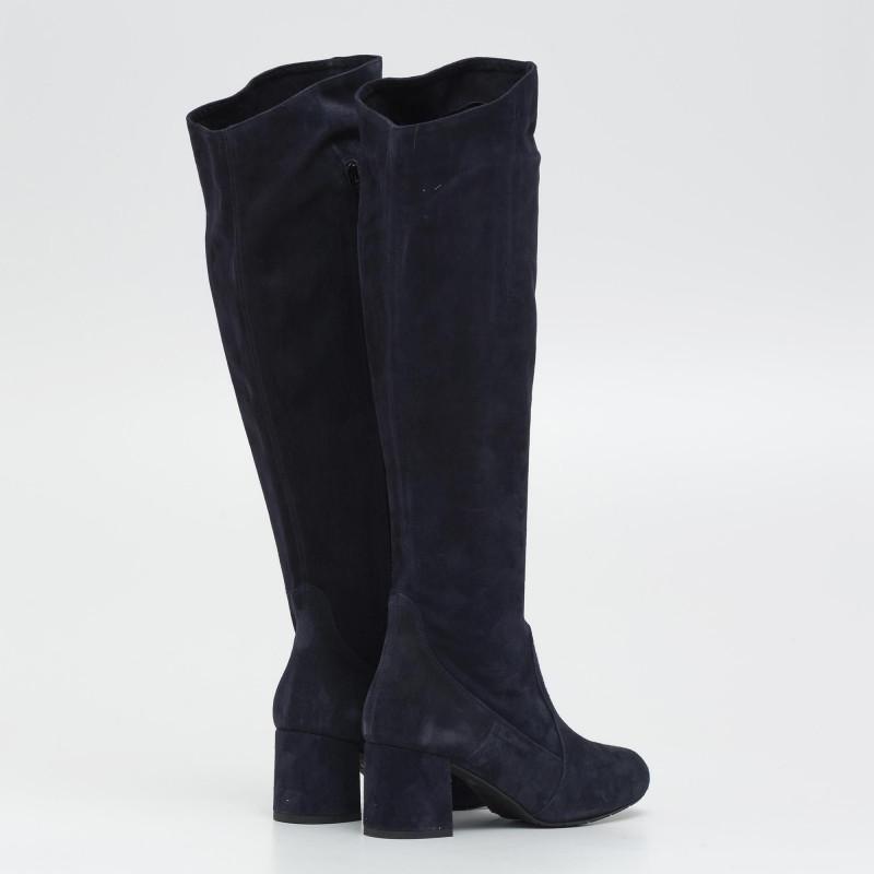 premium selection 5206e a3661 Stivali tacco medio in camoscio blu