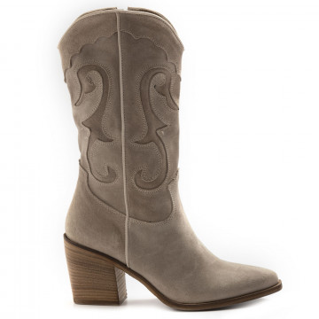 stivali donna keb 205suede taupe 6818