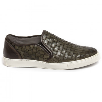 slip on uomo brecos 6047vitello verde 7333